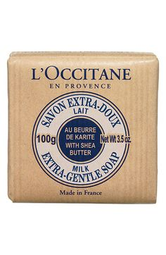 L'Occitane Milk Shea Soap - Travel Size, vegetable based, nondrying, traditional french made soap