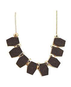 Glitter Geometric Pendent Necklace