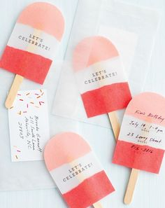 Perfect for summer parties! (ideas for summer invitations)