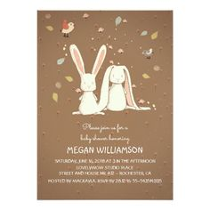 476 best couples baby shower invitations images on pinterest in 2018 rabbit bunnies couple woodland baby shower invitation filmwisefo