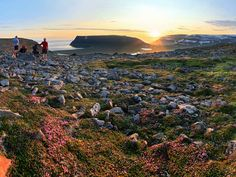 The sun shines at … midnight. Take in the magical sight of the midnight sun this June in places like Hornstrandir, Iceland's northernmost peninsula, just a few miles from the Arctic Circle. Here, the sun is visible for 24 consecutive hours, as the sun barely disappears below the horizon.
