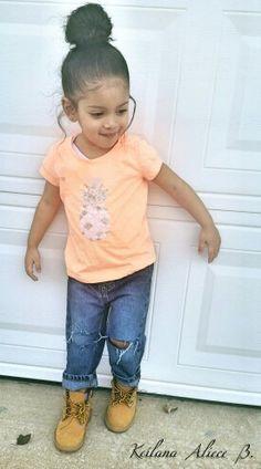 #toddlerfashion #toddler #babieswithswag #babygirls #toddlerfallfashion #fallfashion #falllook #boots #Timberlands #tims