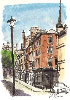 Essex Street, London  (http://www.urbansketchers.org/2012/06/urban-sketching-my-favourite-part-of.html)