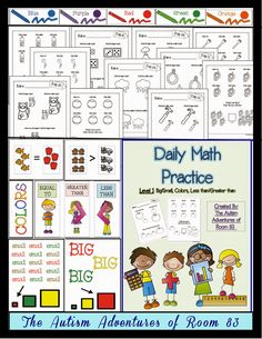 math worksheet : 1000 images about math with special needs on pinterest  calendar  : Math Worksheets For Special Needs Students