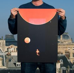 2001 a Space Odyssey screen print on Behance