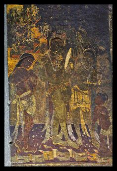 Ajanta caves near Aurangabad are of the best preserved Buddhist rock cut caves sculpted out from a cliff and painted with frescoes by Buddhist monks Ancient Indian Paintings, Indian Art Paintings, Ancient Art, India Painting, Mural Painting, Mural Art, Ajanta Caves, Ajanta Ellora, Apocalypse Art