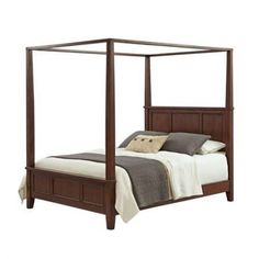 Pretend you're dozing in the Hogwarts dormitories in a mahogany four-poster bed. 26 Products That Will Transfigure Your Home Into Hogwarts Hogwarts, Harry Potter Bedroom, Four Poster Bed, Bed Reviews, Beds For Sale, Headboard And Footboard, Panel Headboard, Beds Online, Bed Furniture