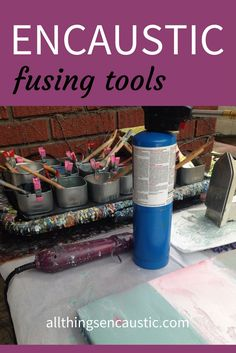 Encaustic fusing tools are an important part of encaustic painting. Heat is used in every step of the encaustic painting process. You need to fuse every layer---first to the substrate and then every subsequent layer to the layers before. The posts in encaustic fusing tools will help you choose which hot tool to use when. Each fusing tool will give you a different effect.