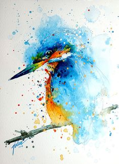 Colorful Splashed Watercolor Animals Paintings