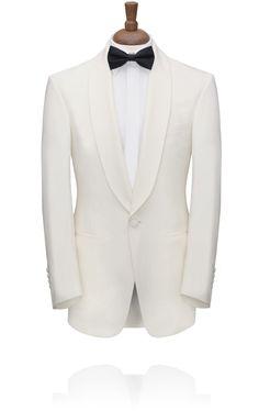 White Shawl Lapel Tuxedo Jacket