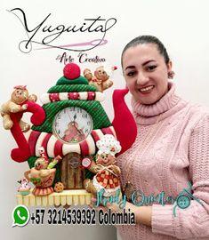 Christmas Stockings, Christmas Holidays, Christmas Decorations, Christmas Ornaments, Clay Crafts, Diy And Crafts, Felt Stocking, Holiday Crafts, Holiday Decor