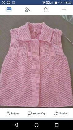 """This post was discovered by Ayl """"This post was discovered by HUZ"""", """"Til lillesøster og storesøster"""", """"Discover thousands of images about gülişi"""" Knit Baby Dress, Knitted Baby Cardigan, Knit Baby Sweaters, Baby Pullover, Girls Sweaters, Diy Crafts Knitting, Knitting For Kids, Free Knitting, Baby Sweater Patterns"""