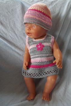 <span>Oblečky pro panenku - šatičky s kytkou   <a…