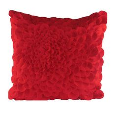 Puffy Dahlia Pillow Red now featured on Fab.