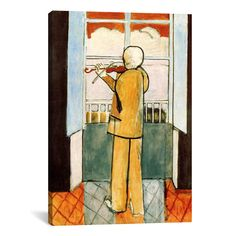 """Found it at Wayfair - """"Violinist at the Window"""" Canvas Wall Art by Henri Matisse"""
