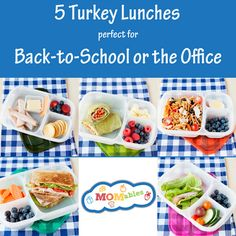 Back to School lunch made easy! How to pack a whole week's worth of school or office lunches with one featured ingredient!