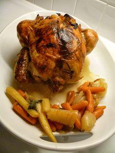 From Lidia Bastianich: Pollo Alla Birra...(Chicken in Beer)/I make this quite often, Delicious!!!