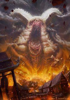 """scifi-fantasy-horror: """" Inside men by Gaétan WELTZER """" Dark Fantasy Art, Fantasy Artwork, Dark Creatures, Fantasy Creatures, Fantasy Monster, Monster Art, Art Sinistre, Lovecraftian Horror, Eldritch Horror"""