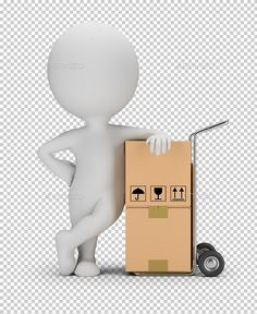 3D Small People - Delivery Service