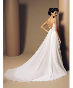 elegant backless wedding gowns ideas #12 - Jixy Wedding