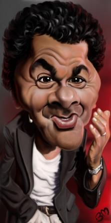 Jamel Debbouze, French-Moroccan humorist, also actor and producer.    Bruno Munier's Portfolio on Wittygraphy
