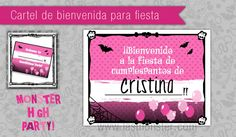 Póster Monster High para fiesta