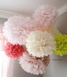 Diy tissue paper pom poms i will do thismeday decorate wedding ceremony picture more detailed picture about fengrise pom poms tissue paper artificial flowers balls wedding decoration crafts party home mightylinksfo