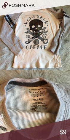 Kids thermal boneyard long sleeve shirt Kids thermal boneyard long sleeve shirt. Soft feeling. In great condition. Size is 5/6 medium Sonoma Tops Tees - Long Sleeve