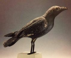 1920s raven from the roof of a Maine hunting lodge.