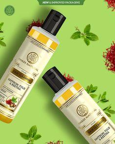 Retain the #naturalshine of your #hair with #KhadiNatural #Saffron, #Tulsi & #Reetha #HairCleanser which is SLS & Paraben free and helps in providing frizz-free hair. This hair cleanser is very effective in taming frizziness and helps in improving the damaged dry, brittle, and rough hair. Prevents hair fall and helps in strengthening hair follicles Reintroducing the Khadi Natural Saffron, Tulsi & Reetha Hair Cleanser in new & improved packaging . Hair Cleanser, Frizz Free Hair, Hair Follicles, Paraben Free, Handmade Soaps, Fall Hair, Body Care, Herbalism, Hair Care