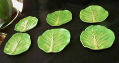 6 Dodie Thayer Lettuce Ware Butter Pats | eBay