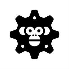Nice monkey gear head logo