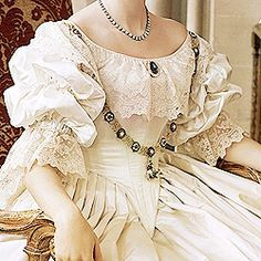 Costumes designed by Sandy Powell for the young Victorian