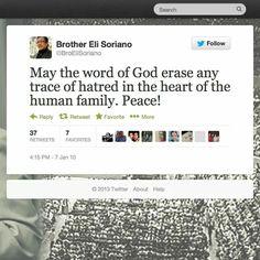 Repost From Bro. Eli Soriano's Twitter account