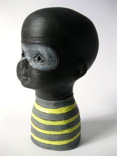 Genki Ninja Pinhead by floraartstudio on Etsy