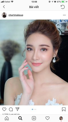Glowing make-up reference Bridesmaid Makeup Natural, Bride Makeup Natural, Natural Hair, Asian Makeup Looks, Wedding Makeup Looks, Asian Makeup Natural Look, Asian Wedding Makeup, Bridal Hair And Makeup, Bride Makeup Asian