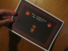 You+complete+my+heart+NES+Legend+of+Zelda+ card +by+emmadreamstar+on+Etsy,+$6.00