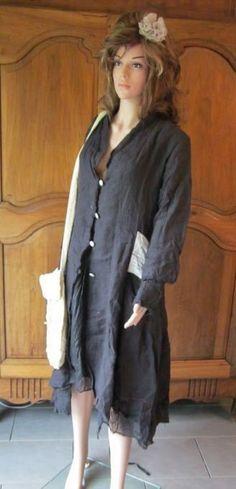 ewa i walla coat french look by FIELDSDREAMSCOMPANY on Etsy