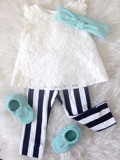 Ok, this has got to be the cutest little girl's outfit!  Love!  #moccs #fashion…