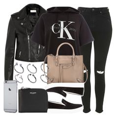 """Style #9561"" by vany-alvarado ❤ liked on Polyvore featuring Yves Saint Laurent, Topshop, Calvin Klein, Balenciaga, Prada Sport, ASOS, women's clothing, women's fashion, women and female"