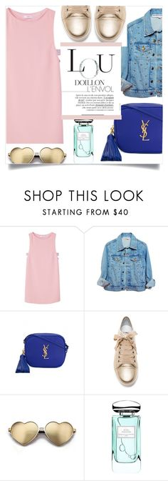 """It Girl"" by eimy-marie ❤ liked on Polyvore featuring MANGO, Yves Saint Laurent, Lanvin, Wildfox and By Terry"