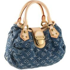 "Louis Vuitton M95020 Monogram Denim Pleaty Blue,Size (LxHxD): 5.1"" x 7.4"" x 10.3"""