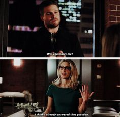 Then 3 episodes later, it's over! Way too over the top response from Felicity. The writers are killing her character.