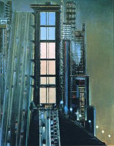 Wayne Thiebaud Folded Cityscape