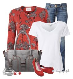 """""""MY STAPLE ITEM: A White T-Shirt"""" by happygirljlc ❤ liked on Polyvore featuring Hudson Jeans, Crumpet, Witchery, Liebeskind, TOMS, Miso and Marc by Marc Jacobs"""