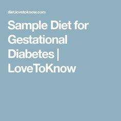 Sample Diet for Gestational Diabetes | LoveToKnow