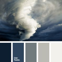 A real color storm - perhaps this is the best name for the color composition, uniting five shades of gray-blue. This color ensemble is very complicated and