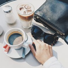 The perfect coffee picture and the triple celine bag only makes it look better.