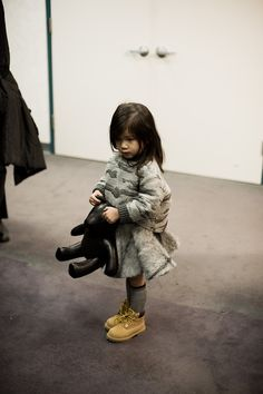 Look at her cute little Timberland ...they look so much cuter on small feet.