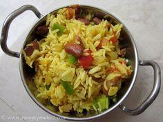 Recepty z Indie: Opekana ryza s paradajkou, paprikou a fazulou